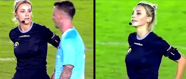 Nazywa się Fernanda Colombo i jest Brazylijką. Lubi sędziować mecze, a przy okazji żartować z piłkarzy. Z tego powodu od kilku dni jest na ustach milionów