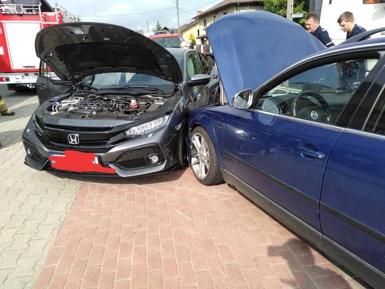 Wypadek samochodowy w Tąpkowicach (20.08.2019)