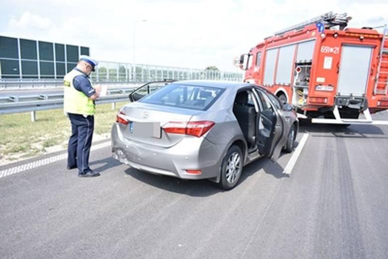 Wypadek na S8. Zderzyły się trzy auta. 20.07.2019