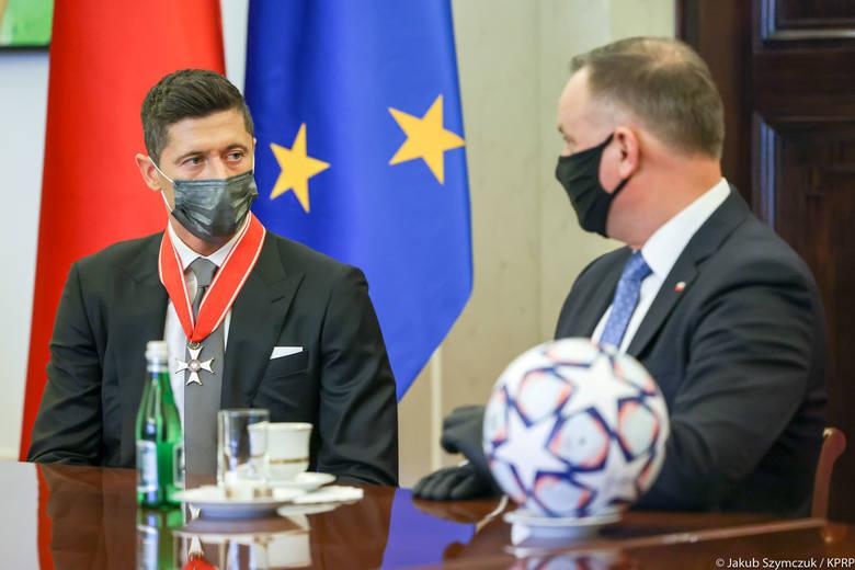 Andrzej Duda i Robert Lewandowski