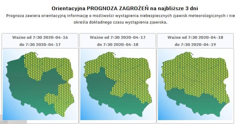 IMGW opublikowało prognozę zagrożeń meteorologicznych na najbliższe trzy dni! Dotyczy ona województwa pomorskiego. Już od czwartku, 16 kwietnia będziemy