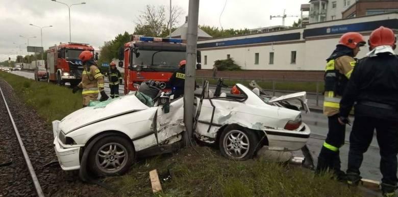 Do groźnego wypadku doszło na ul. Zgierskiej.