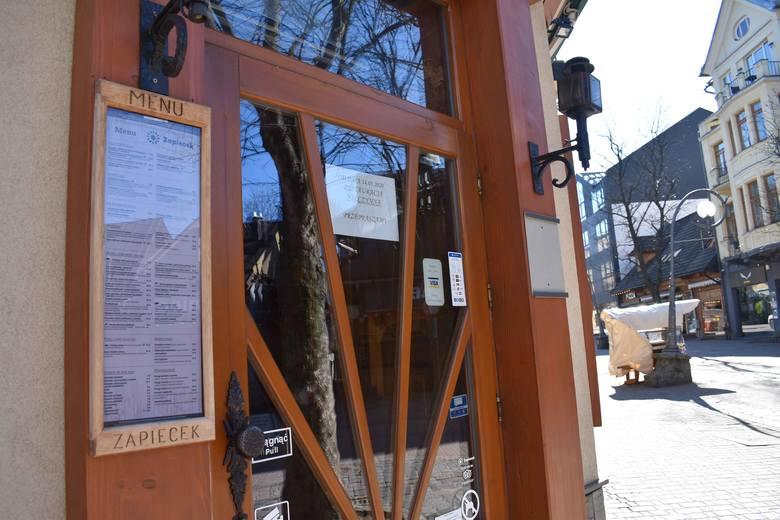 Koronawirus Zakopane. Na Krupówkach sklepy i restauracje zamknięte do odwołania