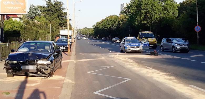 Auta zderzyły się na ulicy Szczecińskiej w Stargardzie