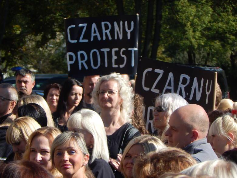 protest kobiet, gubin, poniedziałek, 3 października