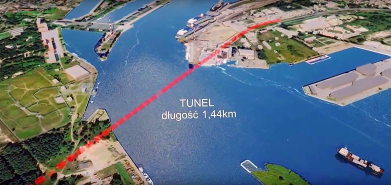 Planowany przebieg tunelu
