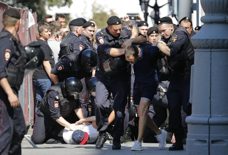 Protest opozycji w Moskwie