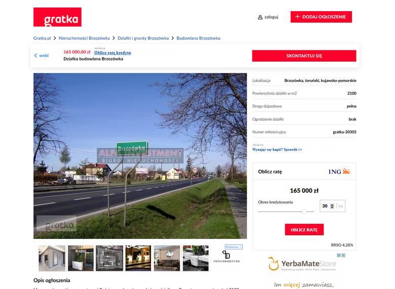 Działka budowlana BrzozówkaPowierzchnia: 1175 m kw. Cena: 55 000 tys. złZobacz także:Najtańsze mieszkania w ToruniuNowosciTorun