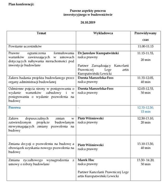 Prawo a proces inwestycyjny w budownictwie. Bezpłatna konferencja w Bydgoszczy [szczegóły, zasady uczestnictwa]