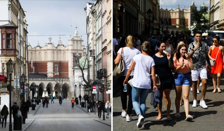 Zobaczcie, jak kiedyś wyglądał Kraków pełen ludzi, a jak wygląda obecnie! >>>