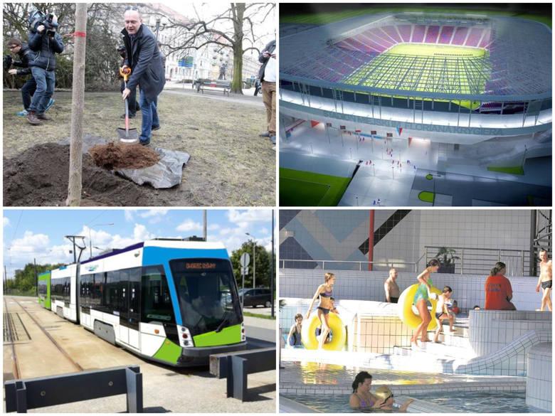 Stadion, aquapark i inne pomysły, które obiecał zrealizować w ciągu swojej kadencji Piotr Krzystek. Warto zachować tę listę, by za pięć lat powiedzieć
