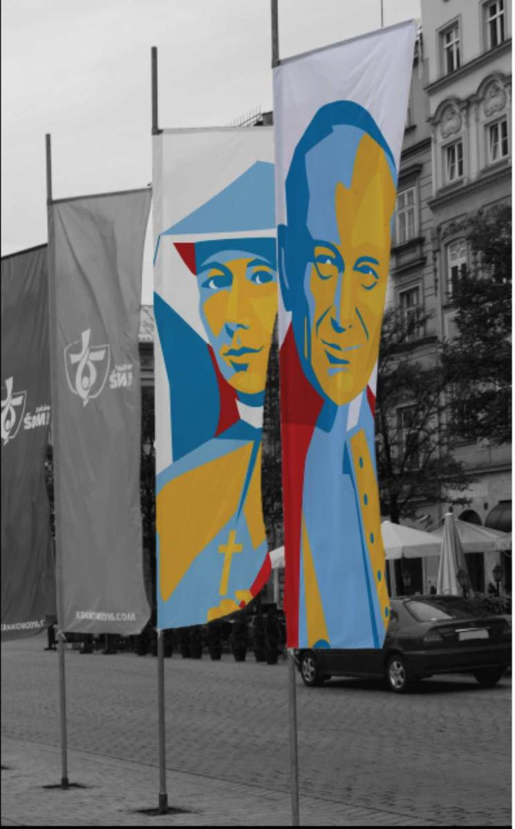 Na flagach pojawią się św. Jan Paweł II i św. Faustyna