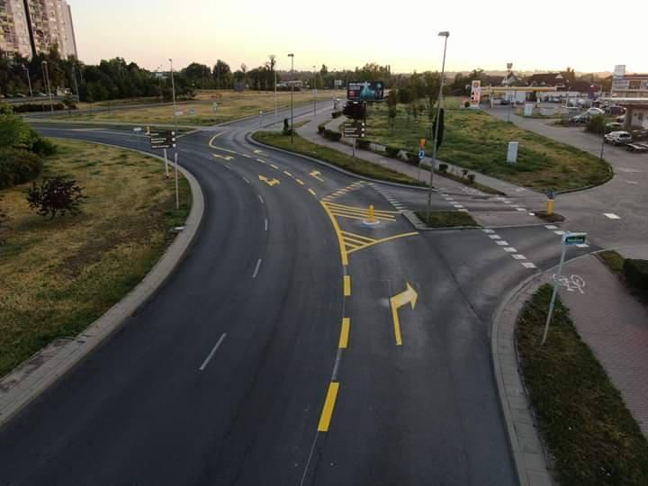 """Pierwsze nowe rondo """"półturbinowe"""" w Szczecinie już działa! [ZDJĘCIA]"""
