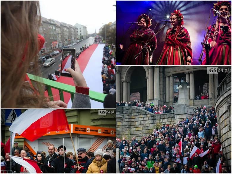 Marsz Niepodległości, wspólne śpiewanie hymnu na Wałach Chrobrego, Bieg Niepodległości, jarmark...Zobaczcie przegląd wydarzeń w Szczecinie w ramach świętowania
