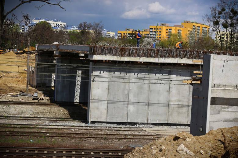 Budowa wiaduktu na ul. Chociebuskiej