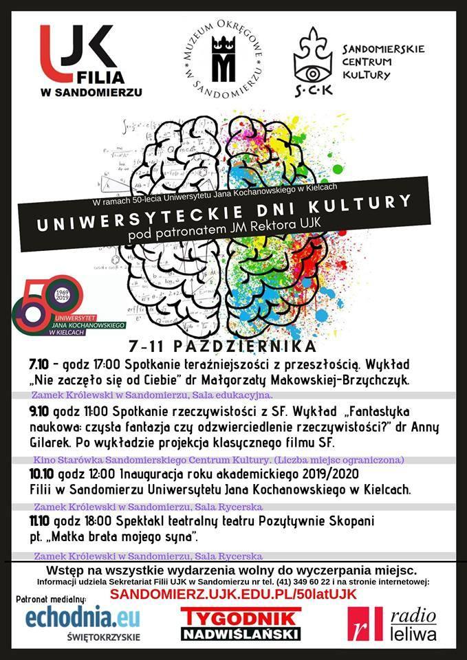 W Sandomierzu odbędą się Uniwersyteckie Dni Kultury