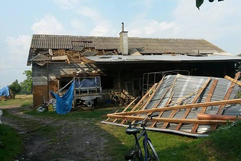 Gwałtowna burza nad powiatem rzeszowskim. W sumie 25 uszkodzonych budynków [ZDJĘCIA]