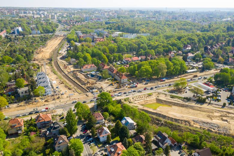Węzeł Łękno w Szczecinie. Zobaczcie, jak wygląda budowa z lotu ptaka! [WIDEO, ZDJĘCIA]