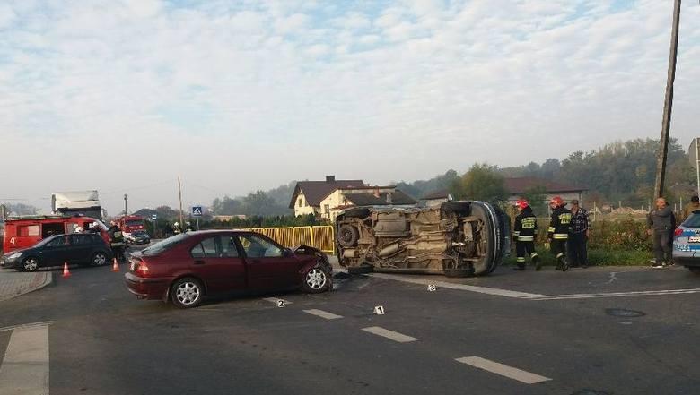 Na miejscu czwartkowego wypadku w gminie Samborzec