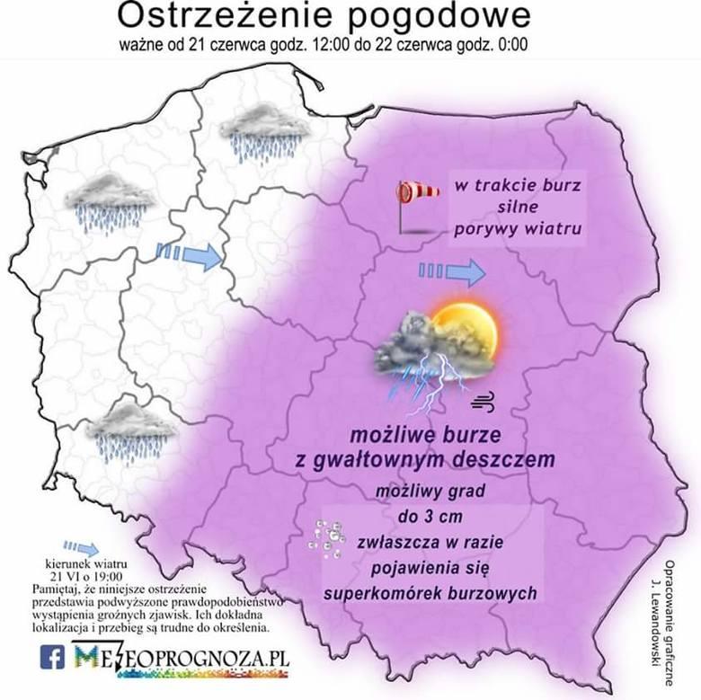 Imgw Ostrzega Burze Z Gradem W Poznaniu I Wielkopolsce Gdzie