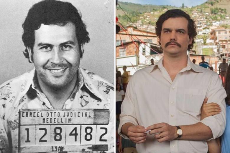Wagner Moura jako Pablo Escobar - Narcos (2015-2017)Przygotowania aktora do roli barona narkotykowego zdumiewają - nie dość, że Moura przytył 20 kg,