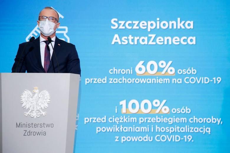 Konferencja prasowa dot. szczepionki AstraZeneca<br />