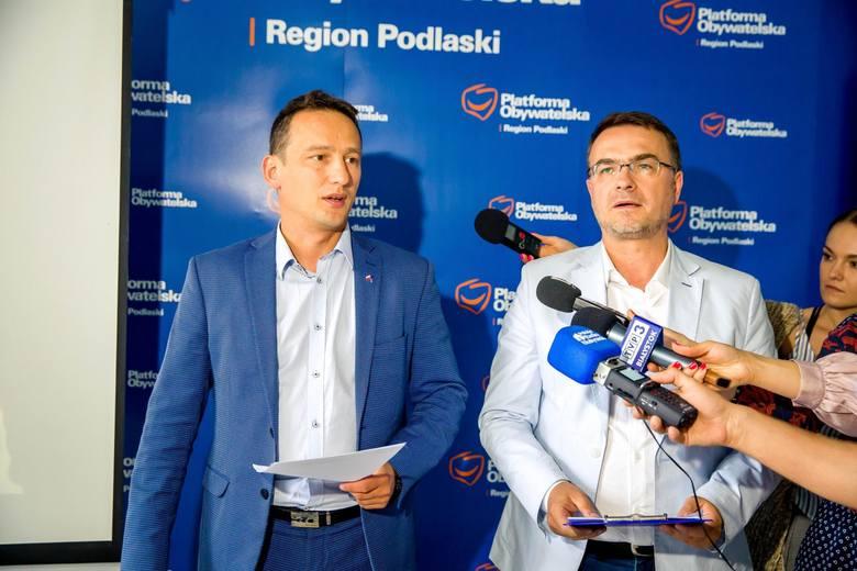 Maciej Biernacki (od lewej) ma być liderem listy w okręgu nr 4 z Koalicji Obywatelskiej. Obok Adam Musiuk. Możliwe, że też wystartuje z listy Koalic