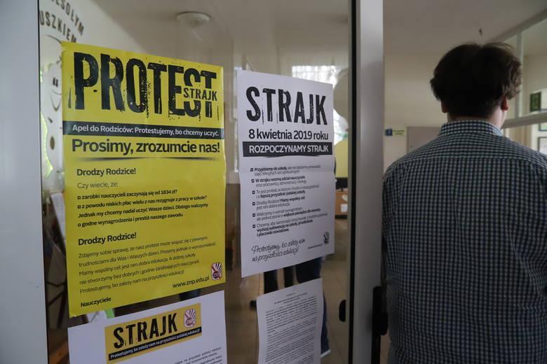 Samorząd w Łodzi obiecał, że strajkujący nauczyciele nie stracą finansowo. Jednak zgodnie z prawem, za wszystkie dni strajku pieniądze z pensji zasadniczych