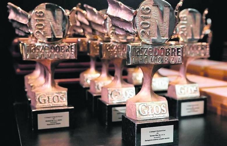 """Statuetka konkursu """"Nasze Dobre z Pomorza"""" jest certyfikatem jakości."""