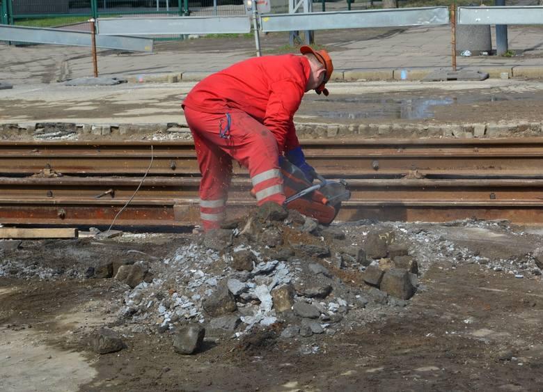 Kolejny etap prac na skrzyżowaniu ulic Przybyszewskiego i Kilińskiego. Zmiany organizacji ruchu