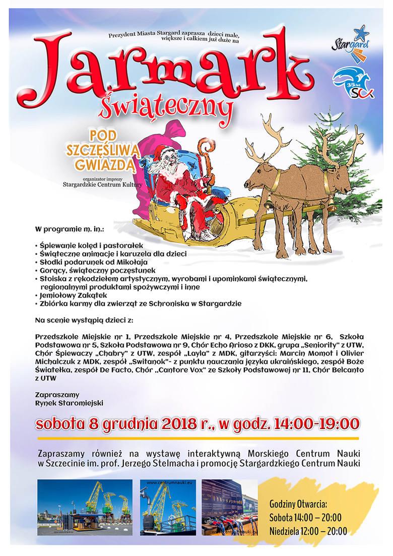 Jarmark Świąteczny na Rynku Staromiejskim w Stargardzie - część I [ZDJĘCIA, WIDEO]