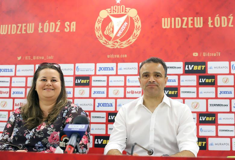 Prezes Martyna Pajączek i trener Enkeleid Dobi