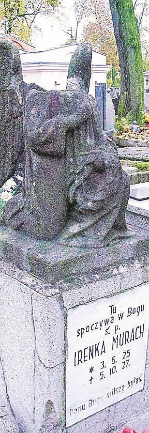 Piękny aniołek na grobie Irenki Murach odzyska głowę.