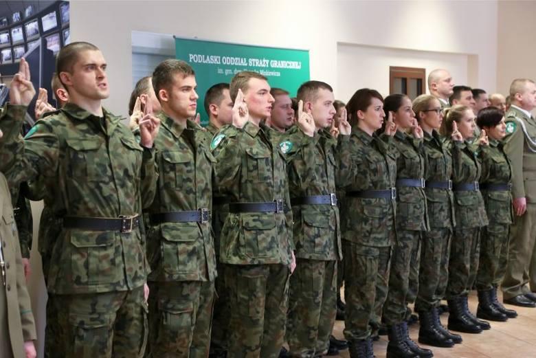 Podlaski Oddział Straży Granicznej. Ślubowanie nowych pograniczników i promocja chorążych (zdjęcia)