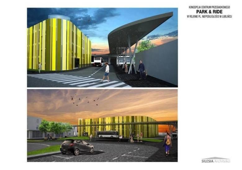 Budowa centrum przesiadkowego w Lublińcu. Wizualizacja