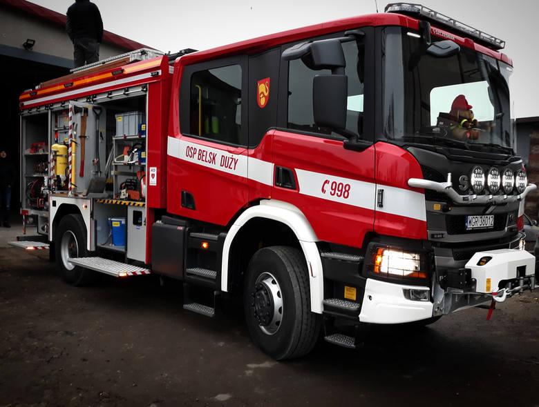 W połowie grudnia do belskiej jednostki trafiła nowa scania P320 ze zbiornikiem wodnym 2500 litrów, zabudowana przez firmę Szczęśniak Pojazdy Specjalne.