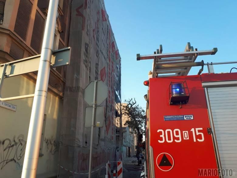 Pożar w kamienicy przy ul. Armii Krajowej w Opolu.
