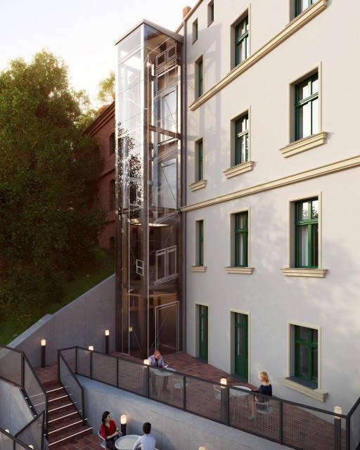 Wizualizacja spichlerza nr 57 w Grudziądzu po jego gruntowym remoncie. Projekt opracowali we współpracy z konserwatorem zabytków i inwestorem - urzędem