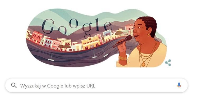 Cesária Évora Google Doodle