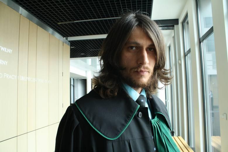 Maciej Burda podczas procesu Brunona K.