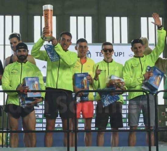 Nasi biegacze w zwycięskiej sztafecie słynnego biegu w Berlinie
