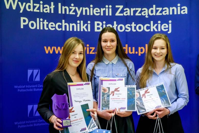 Zwyciężyła drużyna z Liceum Ogólnokształcącego nr 4 w Białymstoku. To Monika Jaromek, Katarzyna Strycharska, Patrycja Płońska