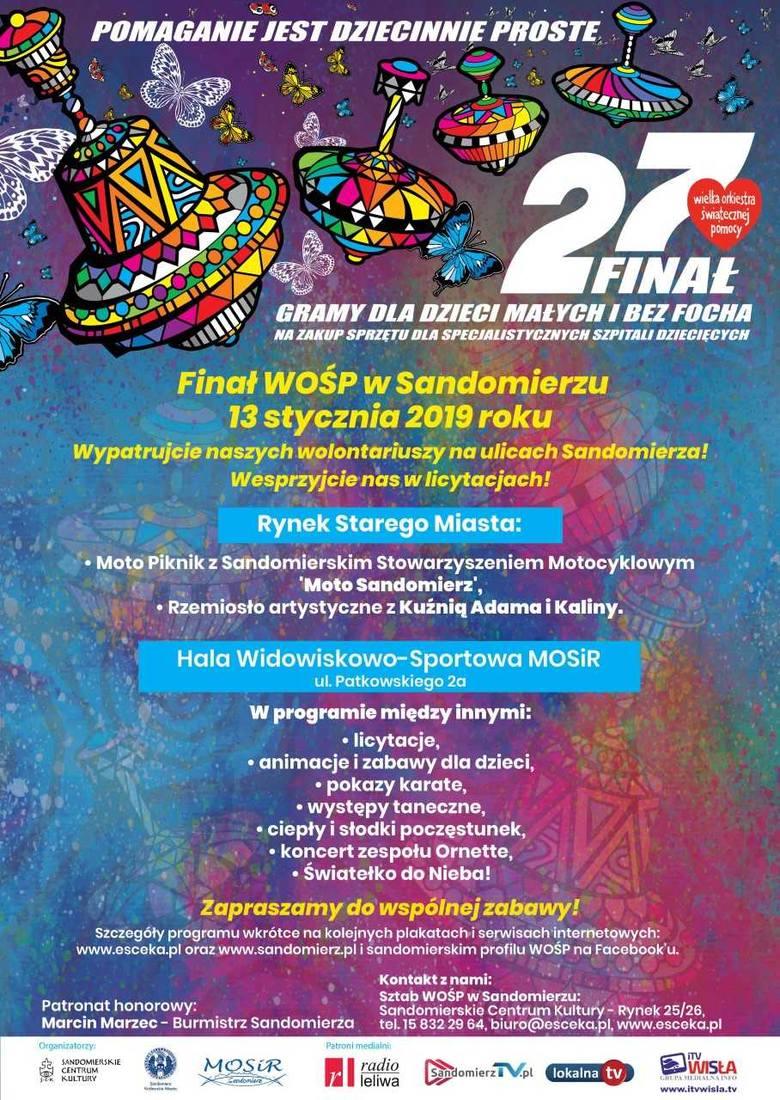 W sandomierskim sztabie Wielkiej Orkiestry Świątecznej Pomocy trwają przygotowania do 27. Finału. Gwiazdą wieczoru zespół Ornette
