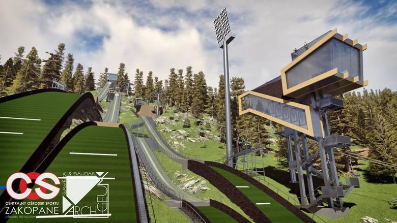 A tak będzie wyglądał kompleks średnich skoczni w Zakopanem. Polska doczeka się bardzo nowoczesnej bazy szkoleniowej