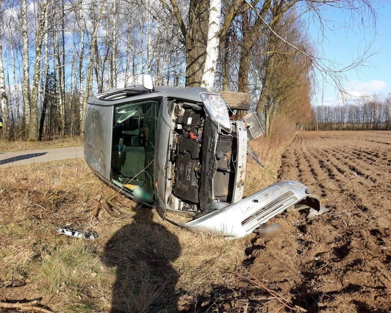 Sadek. Wypadek na drodze powiatowej. Dwie osoby ranne [ZDJĘCIA]