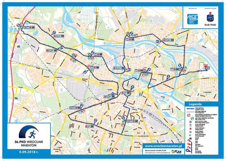Trasa 36. PKO Wrocław Maratonu