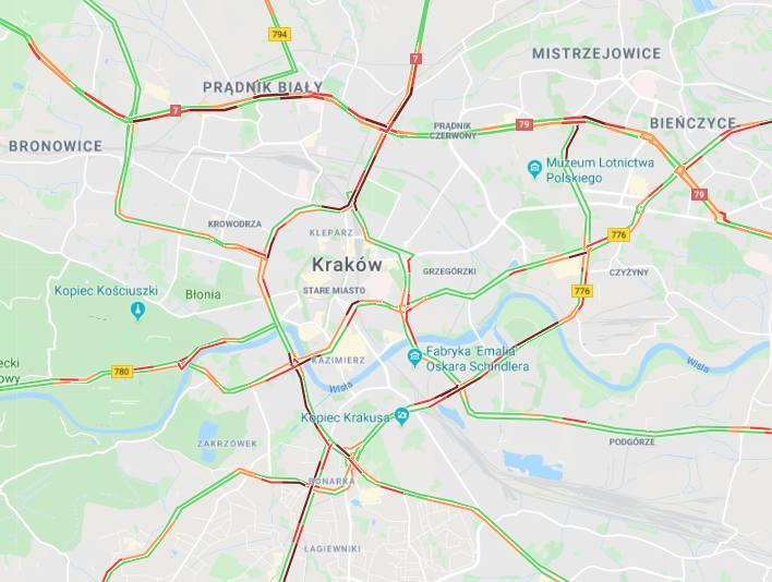 Raport drogowy Kraków i woj. małopolskie. Korki, wypadki, utrudnienia. Informacje drogowe A4, S7, DK 44, DK 94 na żywo [15.11.2019]