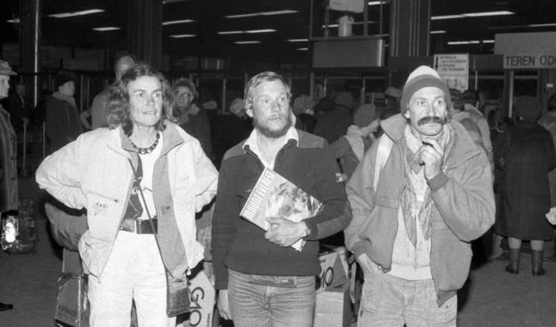 Jerzy Kukuczka podczas zimowego wejścia na Annapurnę (wraz z m.in. Wandą Rutkiewicz i Krzysztofem Wielickim). Luty 1982 r.