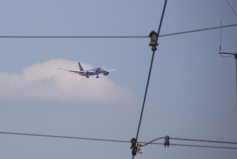 Dreamliner po raz ostatni nad głowami bydgoszczan [zdjęcia od Czytelników]