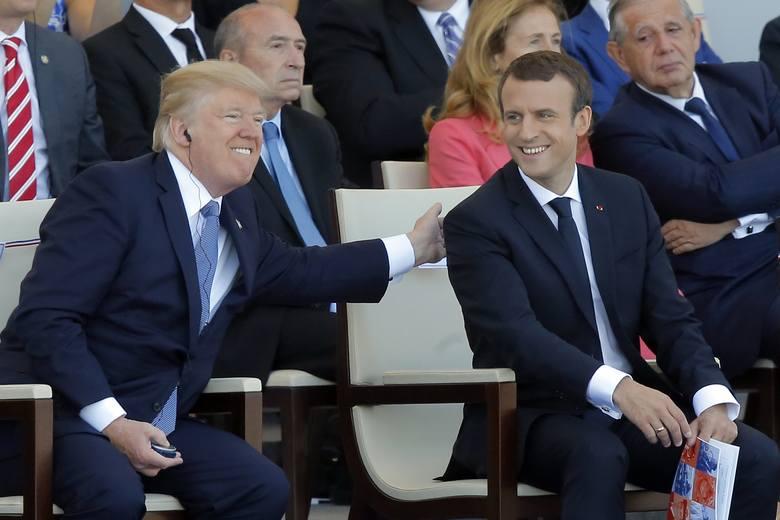 Francja: Trump i Macron oglądali defiladę z okazji Dnia Bastylii [VIDEO] [ZDJĘCIA]